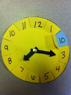 clever idea teaching kids the corresponding minutes on a clock