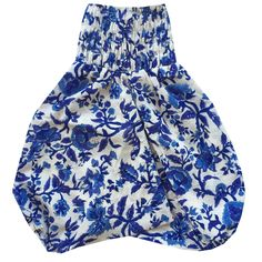 Our Bluebell Happy Harems are a perfect addition to any little gypsies wardrobe. Made from 100% cotton, with a super stretchy waist, they are perfect for little explorers and great for easy access to those little squishy nappy bums.