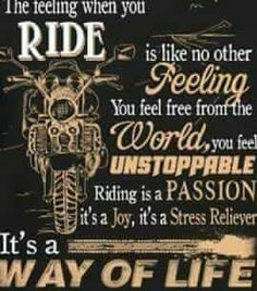 The feeling when you ride