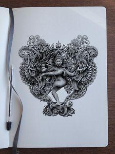 Doodletime - Shiva as Nataraja by Bennett-Klein on DeviantArt Shiva Art, Krishna Art, Hindu Art, Mandala Canvas, Mandala Art, Shiva Sketch, Spiritual Paintings, Lord Shiva Hd Wallpaper, Dancing Drawings