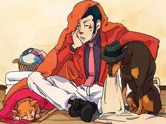 Goemon, Lupin, and Jigen