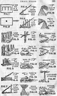 Mark a trail, from the 1942Boy Scout Handbook