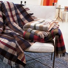 Zambaiti Rainbow Plaid Throws are perfect for our Supper........Jan. 25th.