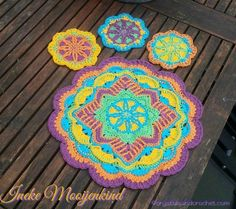 Placemat and coaster Happy colours