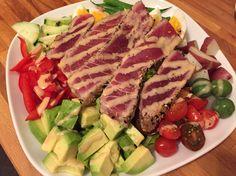 Seared Ahi Niçoise salad