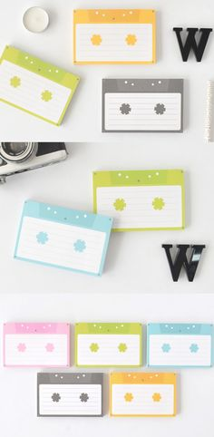 The Cassette Memo Pad is a fun and colorful memo pad with a look of a cassette tape! They're wonderful to write on, and the layout can help you write more neatly!