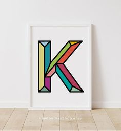 Initial Decor Nursery Initial Nursery Decor Letter K Wall   Etsy Initial Decor, Initial Wall Art, Initial Letters, Playroom Wall Decor, Nursery Decor, Photo Frame Display, Letter K, Colorful Wall Art, Cool Baby Stuff