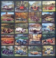 OLDTIMER AUTOMOBILES, 3-D STAMPS FROM BHUTAN, FULL SET   For sale on Delcampe