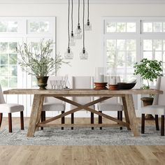 Products Colborne Extendable Acacia Solid Wood Dining Table Color: Salvaged Gray How To Choose A Set Wood Dining Room, Extendable Dining Table, Wood Dining Table, Dining Table In Kitchen, Dining Room Decor, Wooden Dining Tables, Dining Room Table, Rustic Dining Room, Wood Dining Room Table