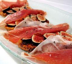 Lidia's Italy: Recipes: Prosciutto and Fig Bruschetta