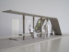 'Abri', bus stop Delft by Vincent de Wit, via Behance