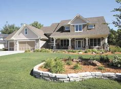 Classic style with rustic elements. Very inviting home design.