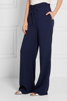 Diane von Furstenberg | Davin stretch-silk wide-leg pants | NET-A-PORTER.COM