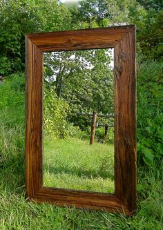 barnwood mirror, rustic mirror, rustic wall decor