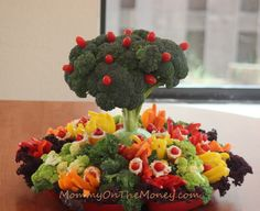 vegetable tray ideas | Mommy on the Money: Earth Day Veggie Tray