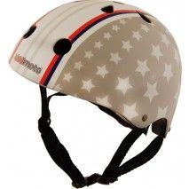 Casque enfant pour vélo, bmx, roller ou skate Stars & Stripes de Kiddimoto - Casques enfant, Protections
