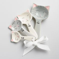 Cat Ceramic Measuring Spoons by World Market