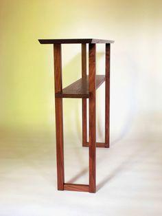 modern walnut console table for narrow hall table wood entry table sofa table or narrow side table handmade minimalist wood furniture