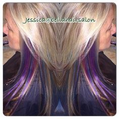 Blonde with fun colors