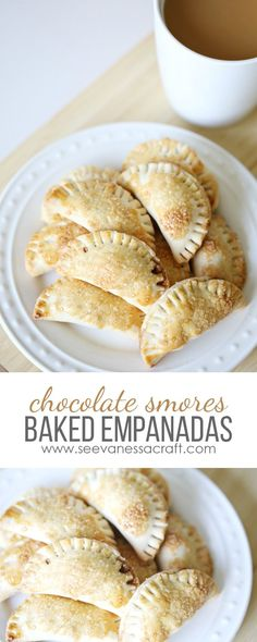Mini Chocolate S'mores Baked Easy Empanadas Dessert Recipe #GustoNestle #ad