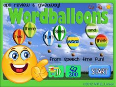 Wordballoons- App Review from Speech Time Fun. a fun app for vocabulary building. Pinned by  SOS Inc. Resources.  Follow all our boards at http://pinterest.com/sostherapy  for therapy   resources.