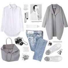 Helle Jeans und grau