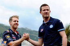 Sebastian Vettel, Sebastien Ogier, 2013 Monaco Formula 1 Grand Prix, Formula 1