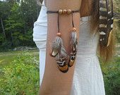 Real Feather Armband,  Native American, style,  indian armband, Feathers, Indian Warrior, free people, tribal armband, woodland, whimsical