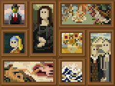 famous paintings in #pixelart