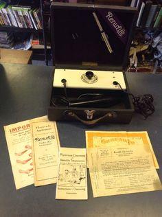 Antique Quack Medical Renulife Model 2 Violet Ray Generator Medical Apparatus   eBay