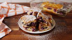 These Lemon Blueberry Cheesecake Bars Taste Like Spring - via Delish Blueberry Cheesecake Cookies, Blueberry Desserts, Eggnog Cheesecake, Sopapilla Cheesecake, Cheesecake Bites, Lemon Dessert Recipes, Bar Recipes, Lemon Recipes, Bakken