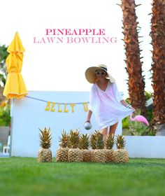 DIY Lawn Bowling // No question, this might be the best thing ever paired with some piña coladas.