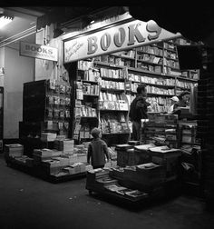 Los Angeles, bookstore, 1953 by Manitoba Museum of Finds Art, via Flickr