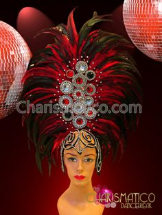 Charismatico Dancewear Store - CHARISMATICO Tall red feather showgirl's headdress accented with beads and gemstones, $169.00 (http://www.charismatico-dancewear.com/products/Tall-red-feather-showgirl's-headdress-accented-with-beads-and-gemstones.html)