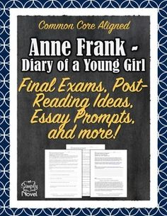 Anne Frank - Diary of a Young Girl - Post-Reading, Final Tests Comprehension and Analysis Unit