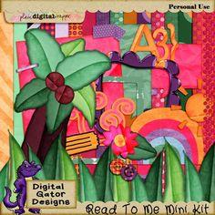 Read To Me Mini Kit by Digital Gator Designs @Plaindigitalwrapper.com