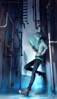 Fisheye placebo frey cyberpunk art, cyberpunk anime, anime mangas, manga an Cool Anime Wallpapers, Anime Scenery Wallpaper, Animes Wallpapers, Anime Wallpaper For Android, Wallpaper Wallpapers, Cyberpunk Anime, Cyberpunk Art, Dark Anime Guys, Cute Anime Guys