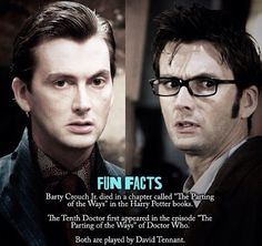 David tennant on Doctor Who and in Harry Potter