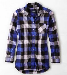 Shop the latest styles of Shirts and Blouses for Women. From button downs and denim shirts to flannels and plaid shirts, refresh your style with our collection of Women's Shirts and Blouses at American Eagle. Blue Flannel Shirt, Denim Shirt, Purple Flannel, Flannel Shirts, Flannels, Blue Plaid, College Girl Fashion, Mens Outfitters, Shirt Shop