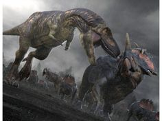 Daspletosaurus vs. Centrosaurus; from Planet Dinosaur