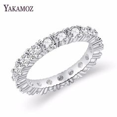 Stainless Steel Gold Color Plated Spiral Leaf Vine Band Ring with Clear CZ