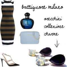 battiquore milano by m-valentina on Polyvore featuring moda, H&M, Valentino, MICHAEL Michael Kors, orecchini, charme, battiquoremilano and battiquore