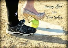 I hate it how some people think oh if I'm a softball player I can'… Yesss! I hate it how some people think oh if I'm a softball player I can't be girly….that's not true you can be both! Softball Memes, Senior Softball, Softball Senior Pictures, Softball Crafts, Softball Players, Fastpitch Softball, Softball Stuff, Softball Things, Softball Party