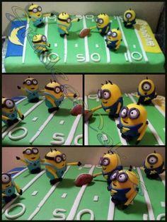 Football minion theme cake https://www.facebook.com/ErideeCakes