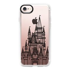 Castle - Black - iPhone 7 Case And Cover ($40) ❤ liked on Polyvore featuring accessories, tech accessories, phone cases, iphone case, clear iphone case, apple iphone case, iphone cover case and iphone cases