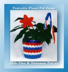 Patriotic Plant Pot Cover