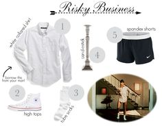Easy halloween costume: risky business