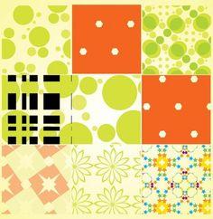 Decorative Retro Seamless Pattern Set - http://www.welovesolo.com/decorative-retro-seamless-pattern-set/