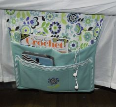 Place-the-Caddy-under-the-Mattress-with-the-Pockets-Hanging-Down-1024x947 Pretty Little Bedside Caddy