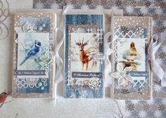 Подарки с душой, ручная работа Create Christmas Cards, Xmas Cards, Holiday Cards, Handmade Ornaments, Handmade Christmas, Winter Karten, Christmas Scrapbook, Marianne Design, Candy Gifts